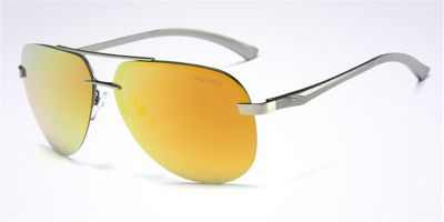 Hipster Rimless Sunglassess Gun Avistor Frame Yellow Lenses