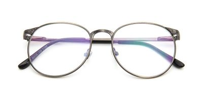 No line bifocals lenses fit frames, Gun Gray