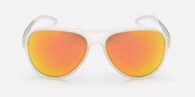 Wide-brimmed Hipster Prescription Sunglasses, Orange Lenses