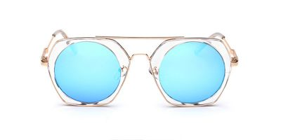 Clear Hexagon Hipster Frames for Sunglasses