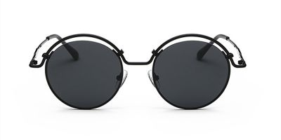 Prescription Designer Sunglasses, Black Frame