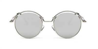 Prescription Designer Sunglasses, Silver Flash Lenses