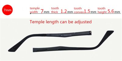 Adjustable Eyeglasses temple for eyeglasses replacement 7.0 mm