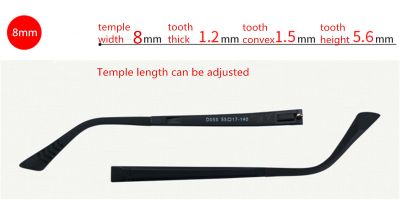 Adjustable Eyeglasses temple for eyeglasses repair 8.0 mm width