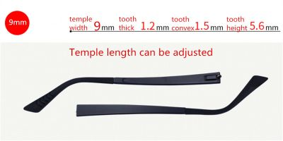 Adjustable Eyeglasses temple for eyeglasses replacement 9.0 mm