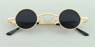 Small Round Glasses for Men, Super Small, Golden
