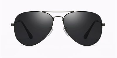 Prescription designer sunglasses,Classic Aviator, Black
