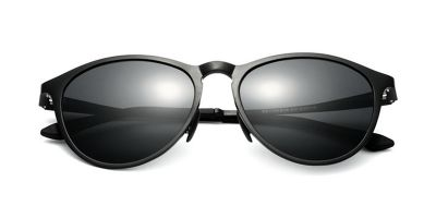 Flash Lens Sunglasses Black frame Gray Lenses