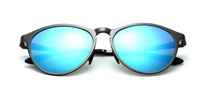 Miirror Sunglass Gray frame Blue lenses