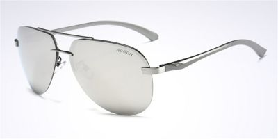 Hipster Frameless Sunglassess Silver Avistor and Lenses