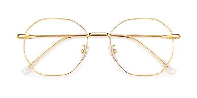 Octagonal Bifocal Lenses glasses, Golden
