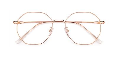 Octagonal glasses Bifocal Lenses glasses, Rose Golden
