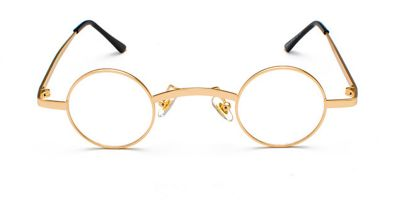 Round Glasses for Men, Super Small Round, Golden