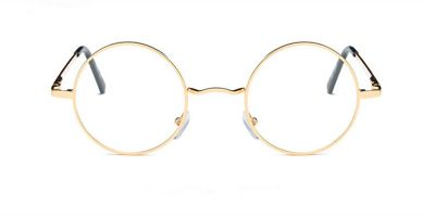 Discount round glasses for men,  Retro Golden