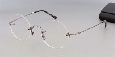 Round Glasses for Men,  Steve Jobs Glasses, Gun Gray