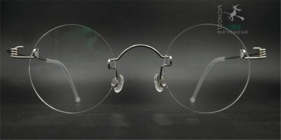 Round Glasses for Men, Manual custom made lens 42mm