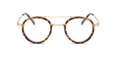 Tortoise Round Acetate Wrapped Aviator