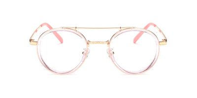 Pink Round Acetate Wrapped Aviator