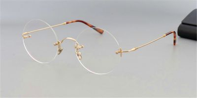 Round Glasses for Men Steve Jobs Glasses, golden