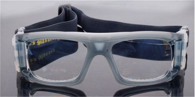 Gray Acetate Prescription Safety Glasses  for Basketball