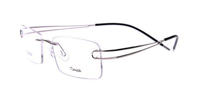 Frameless Glasses with Titanium Frames Silver Twin Temples