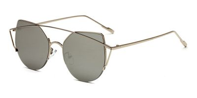 Prescription Hipster Sunglasses Silver Aviator
