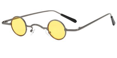 Super Small Round Sunglasses for Men, Yellow Lenses
