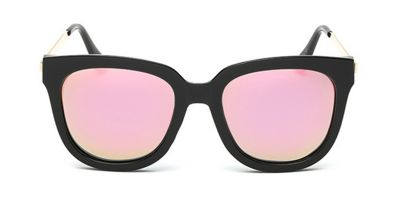 Oversized prescription wayfarer sunglasses, Pink lenses