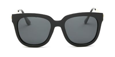 Oversized polarized wayfarer sunglasses, gray lens