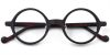 Small Round glasses for men Brown wood grain