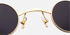 prescription designer sunglasses-round-golden7
